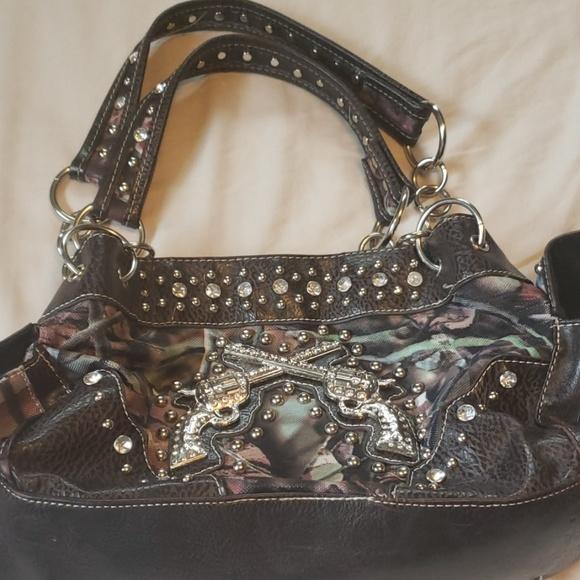 cb64f8fa0b Camo purse with bling